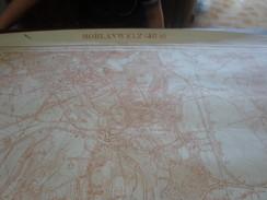 Carte De Morlanwelz,Carnières,Buvrinne,Mont-Sainte-Aldegonde De 1,13m X 89cm. - Cartes Topographiques