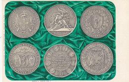 Schweizer Schützenfest-Medaillen, 9 Orig.AK D.Jahrhundertwende, Alle Gel.m.Schützfest-Stempel 1979        (P-47-10424) - Monnaies (représentations)