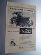 """Bescherm Uw Gezondheid ////dank Zij De Verwarming """" SIROCCO """" SV CRESCO SC St. Pieters-Woluwe : Anno 19?? ( Zie Foto ) ! - Pubblicitari"""