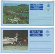 Guernsey, 2 Picture-Aerogrammes, 26 P **, Bay + Aeroplane - Guernsey