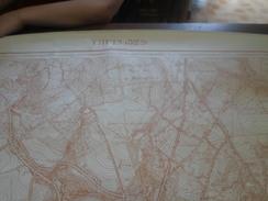 Thuin, Carte De De 1,13m X 89cm. - Topographische Kaarten