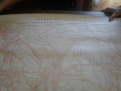 Merbes - Le - Château., Carte De De 1,13m X 89cm. - Topographical Maps