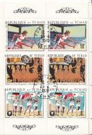228Aa Ciad 1970 Strip Summer Olympics Tokio Athenes Monaco  Used - Summer 1964: Tokyo