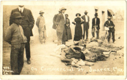 On Commercial St. Juarez, Mex. - & Corpses - Mexico