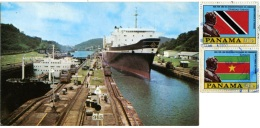 PANAMA  MIRAFLORES LOCKS  Panama Canal  Super Cargo Ships Nice Stamps - Panama