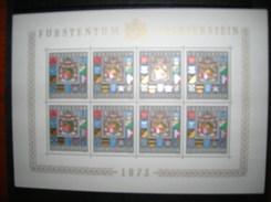 LIECHTENSTEIN YVERT 537 MICHEL 590 COMPLETE SHEET MNH**. - Liechtenstein