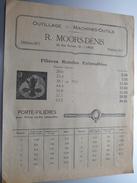 R. MOORS - DENIS Liège Rue Navette Tél 6577 ( Outillage - Machines Outils ) Anno 19?? ( 2 Pag. / Zie Foto ) ! - Publicités