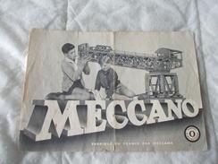 Meccano Manuel D'instructions N° 0 1956 - Meccano