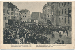 BALE - Défilé De Cavalerie, Occupation Des Frontières 1914 - BS Bâle-Ville