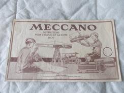 Meccano Instructions Pour L'emploi De La Boite N° 0 - Meccano