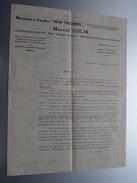 """"""" NEW TRIUMPH """" Machine à Coudre - Marcel COLIN Rue Joseph Clae Bruxelles - Anno 19?? ( 4 Pag. / Zie Foto ) ! - Publicités"""