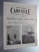 Ets. CARUELLE ( A. SESINO Bruxelles ) St. Denis De L'Hôtel : Loiret NOUVELLE POMPE Nébuleuse - Anno 19?? ( Zie Foto ) ! - Pubblicitari