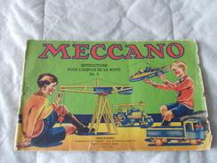 Meccano Instructions Pour L'emploi De La Boite N° 4 - Meccano
