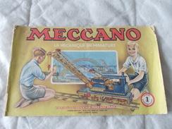 Meccano La Mécanique En Miniature Manuel D'instructions N° 1 - Meccano