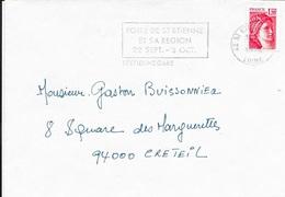 LOIRE 42 -  ST ETIENNE GARE   - FLAMME :  FOIRE DE ST ETIENNE / ET SA REGION / 22 SEPT 2 OCT  -   THEME FOIRE  1978 - Postmark Collection (Covers)
