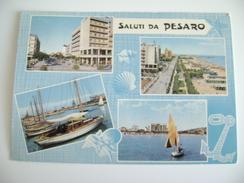 SALUTI   DA  PESARO  MARCHE   VIAGGIATA COME DA FOTO - Pesaro