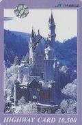 Carte Prépayée Japon - CHATEAU De NEUSCHWANSTEIN - Castle Germany Related Japan Prepaid Card -Site  HW 13 - Paisajes
