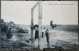 1673 CPA 50 SAINT PAIR SUR MER LA BALANCOIRE SUR LA PLAGE1910 M63 - Saint Pair Sur Mer