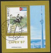CUBA - 1987 - CAPEX '87 - ESPOSIZIONE FILATELICA INTERNAZIONALE TORONTO - FOGLIETTO USATO - Space
