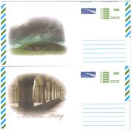 Irland, 2 Picture-Aerogrammes, Postage Paid, Tara + Muckross Friary - Luftpost