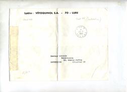 Lettre Cachet Port Paye Lure Entete Vetoquinol Plié - Postmark Collection (Covers)