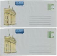 Irland, 2 Picture-Aerogrammes, Postage Paid, GPO Dublin 1, 37 P + 40 P - Luftpost