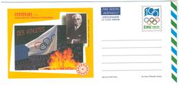 Irland, Aerogramme 1994, Postage Paid, Centenary Of The Intenational Olympic Comitee, Baron De Coubertin - Luftpost