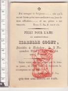 DP Isabelle Coget ° 1780 † Hoboken 1834 - Lithografie G. Van Merlen - Devotion Images
