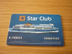 Greece Blue Star Ferries Cruise Ship Cabin Magnetic Key Card - Hotelkarten