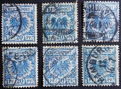 Allemagne Empire Mi:DR 48, Sn:DE 49, Yt:DR 48, Sg:DR 49 .Crown / Eagle . 6 Timbres - Allemagne