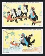 POMA - CARD 2 KAARTEN VOGELS 1980 ? - Disney