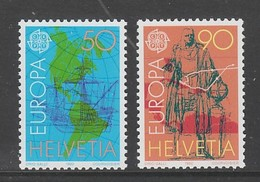 PAIRE NEUVE DE SUISSE - EUROPA 1992 : 500E ANNIVERSAIRE DE LA DECOUVERTE DE L'AMERIQUE N° Y&T 1393/1394 - Europa-CEPT