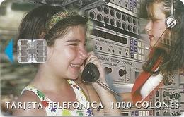 Costa Rica - ICE - Operator & Girl - 1998, 75.000ex, Used - Costa Rica
