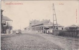 HOUDENG-GOEGNIES-STATION-GARE-SUPER-CARTE-ANIMEE+ENVOYEE-1912-MARCOVICI-VOYEZ LES 2 SCANS-TOP ! ! ! - La Louvière