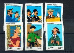 France 4051 4056 Tintin Neuf ** TB MNH Faciale 3.24 - Ungebraucht