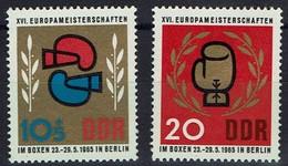DDR 1965 - MiNr 1100-1101 - Europameisterschaften Im Boxen, Berlin. - Boxen