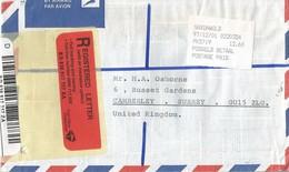 South Africa RSA 2001 Saxonworld Meter Franking PO3.2 Olivetti ATM EMA FRAMA Barcoded Registered Cover - Frankeervignetten (Frama)