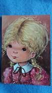 CPSM DESSIN D ENFANT MARY MAY  BLONDE AUX TRESSES 1985 - Dessins D'enfants