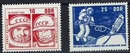 DDR 1965 - MiNr 1098-1099 - Woschod 2 - Pawel I. Beljajew Und Alexej A. Leonow - Raumfahrt