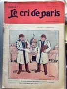 Le Cri De Paris WW 2 Deux Clemenceau Dupond Dupont Pub Cigarettes Egyptiennes Bridge Xanthia Octobre 1915 - Journaux - Quotidiens