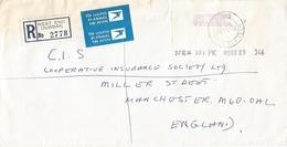 South Africa RSA 1984 West End Durban Meter Franking PO2.2 Anker ATM EMA FRAMA Registered Cover - Frankeervignetten (Frama)