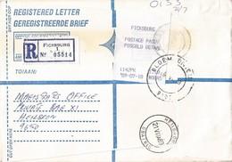 South Africa RSA 1989 Ficksburg Meter Franking PO3.1 Olivetti ATM EMA FRAMA Registered Cover - Frankeervignetten (Frama)