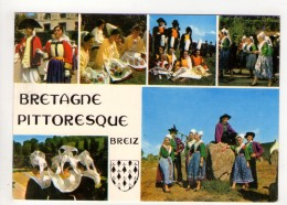 CP 10*15-UP994-BRETAGNE COIFFES ET COSTUMES MULTIVUES 1990 - Bretagne