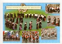 CP 10*15-UP997-BRETAGNE COIFFES ET COSTUMES  MULTIVUES FETES INTERCELTIQUES - Bretagne