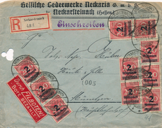 Lettre Infla Inflation 2 Millionen Neckarsteinach Brief - Briefe U. Dokumente