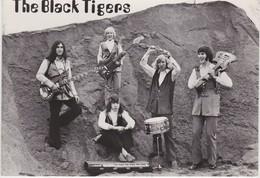 KAULILLE-THE BLACK TIGERS-DANS-EN SHOWORKEST-MUZIEK-OPSTEIN-PROMOKAART+ - 10-15 CM-ZIE 2 SCANS-MOOI ! ! ! - Bocholt