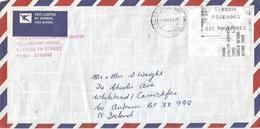 South Africa RSA 1993 Strand Meter Franking PO3.2 Olivetti ATM EMA FRAMA Cover Northern Ireland - Frankeervignetten (Frama)