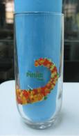 AC -  PINAR FRUIT JUICE ORANGE - CHERRY - APPLE - PEACH ILLUSTRATED GLASS FROM TURKEY - Verres