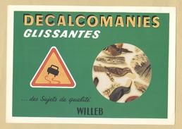 3) Fascicule Décalcomanies Glissantes ( 12 Décalcomanies Anciens ) .. WILLEB - Les Oiseaux Rutilants TB.Etat - Vieux Papiers