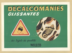 4) Fascicule Décalcomanies Glissantes ( 15 Décalcomanies Anciens ) .. WILLEB - Nos Oiseaux De France TB.Etat - Vieux Papiers
